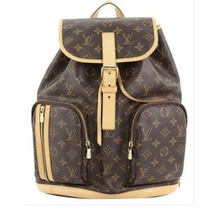 Bosphore monogram brown canvas backpack